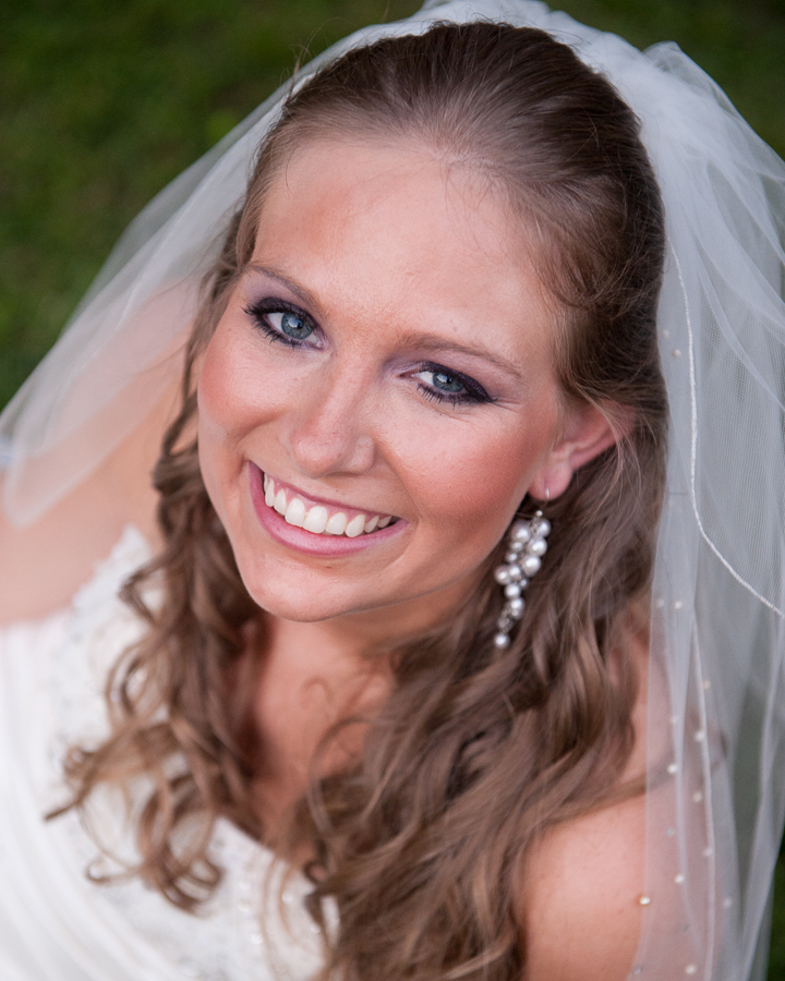 Bridal portrait close up