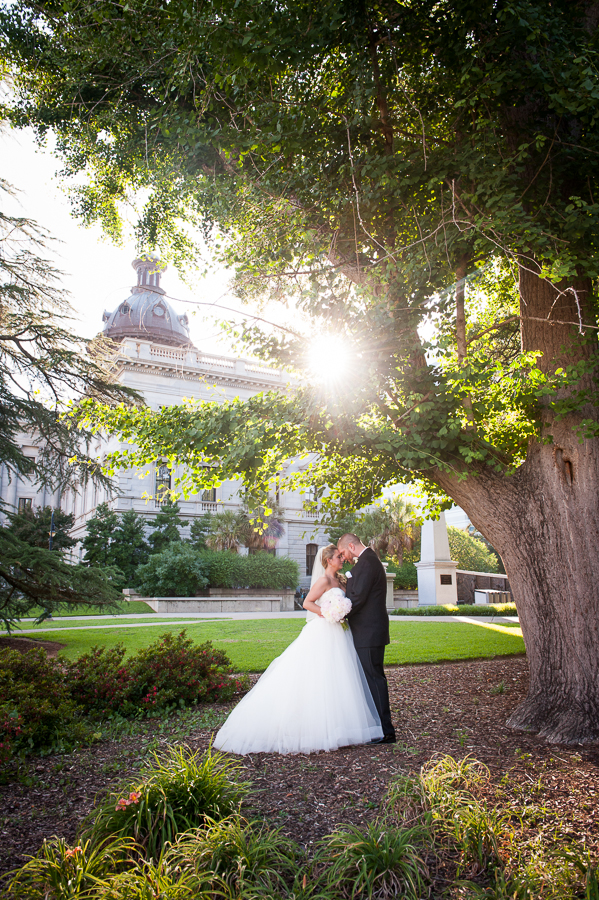 Sunset wedding at the Columbia State House