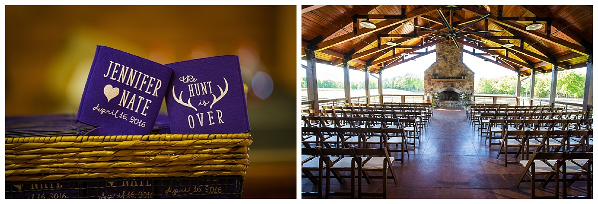 Farm and Ridgeway ceremony location and coozies