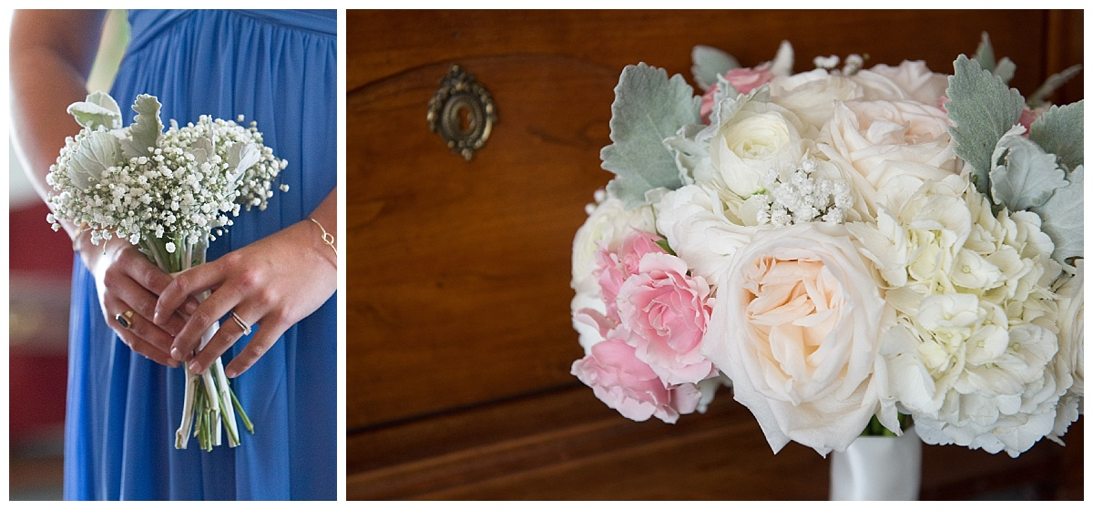 Pastel bouquet and baby's breath bouquet