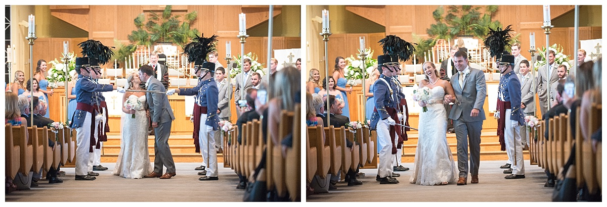 Citadel wedding ceremony Sword arch