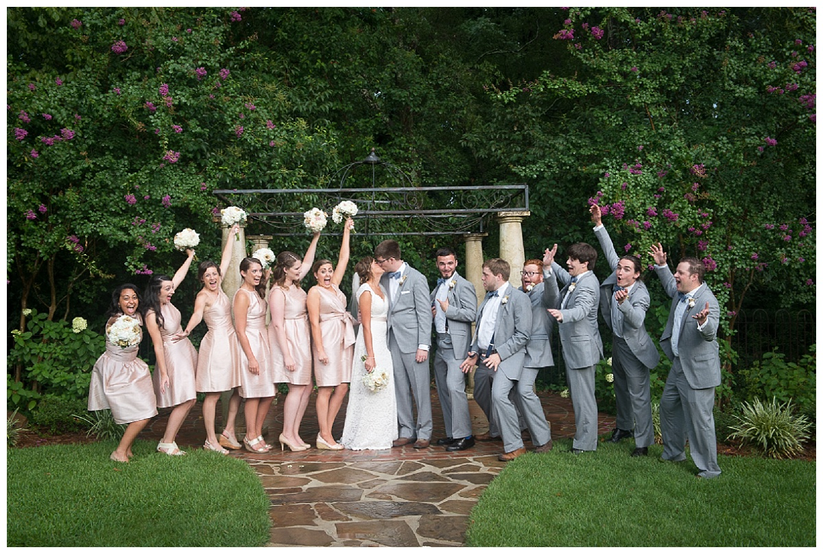 bridal party at the hall
