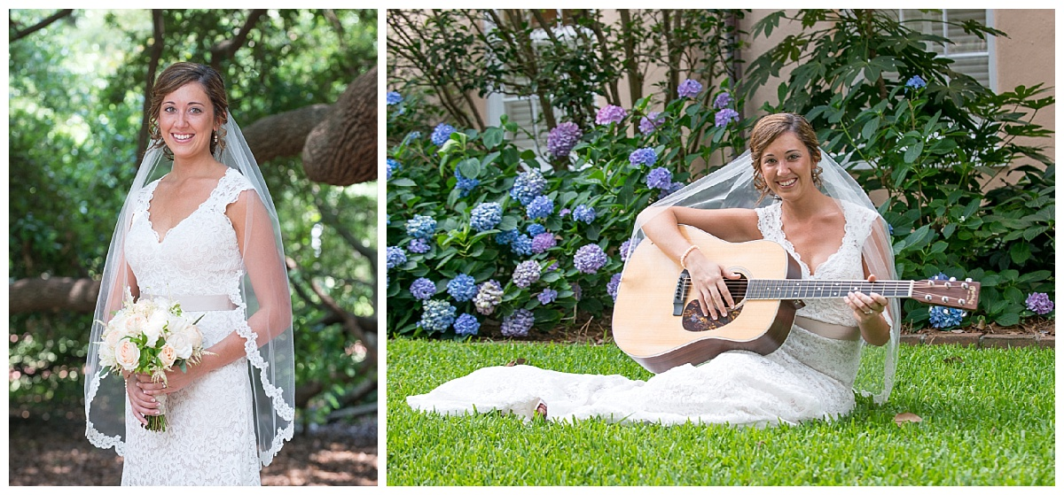 USC horseshoe bridal with guitar