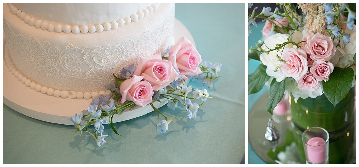 Tiffany blue and pink wedding theme