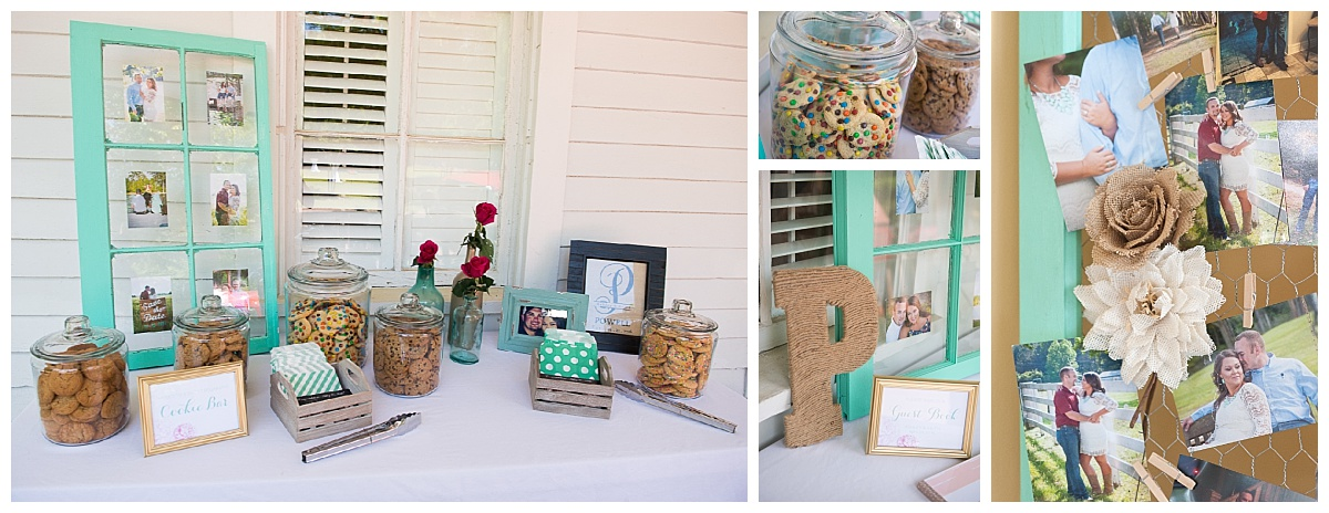 personalized favor cookie table and photo display