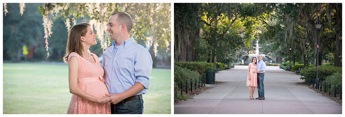 Forsyth park couple photography