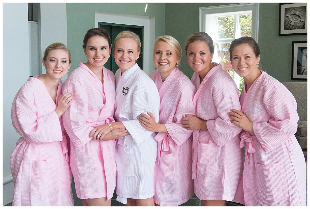 Bridal party pink robes