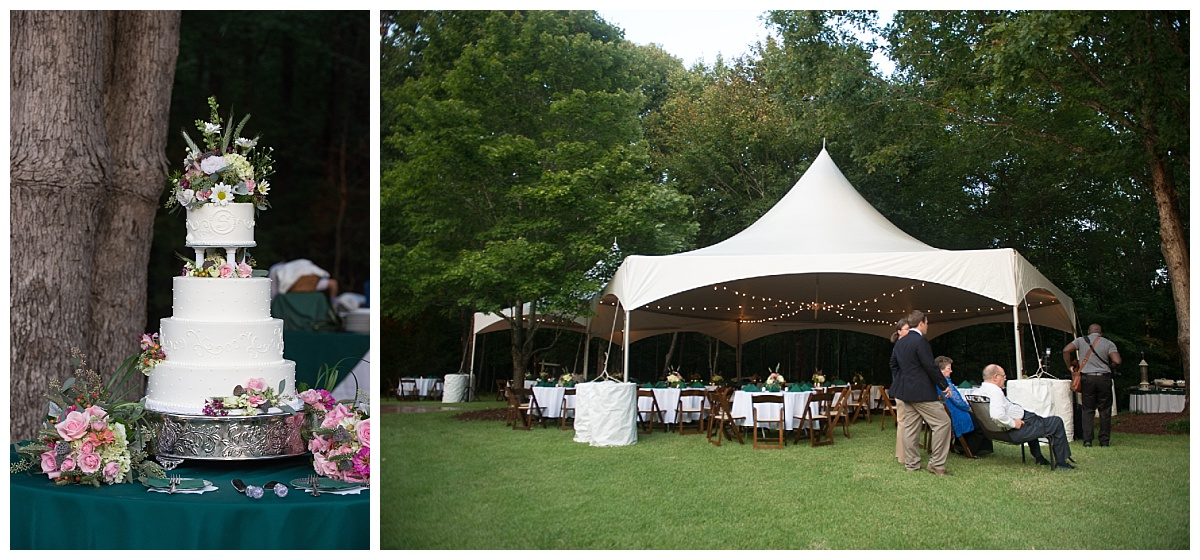Backyard tented wedding in Laurens SC