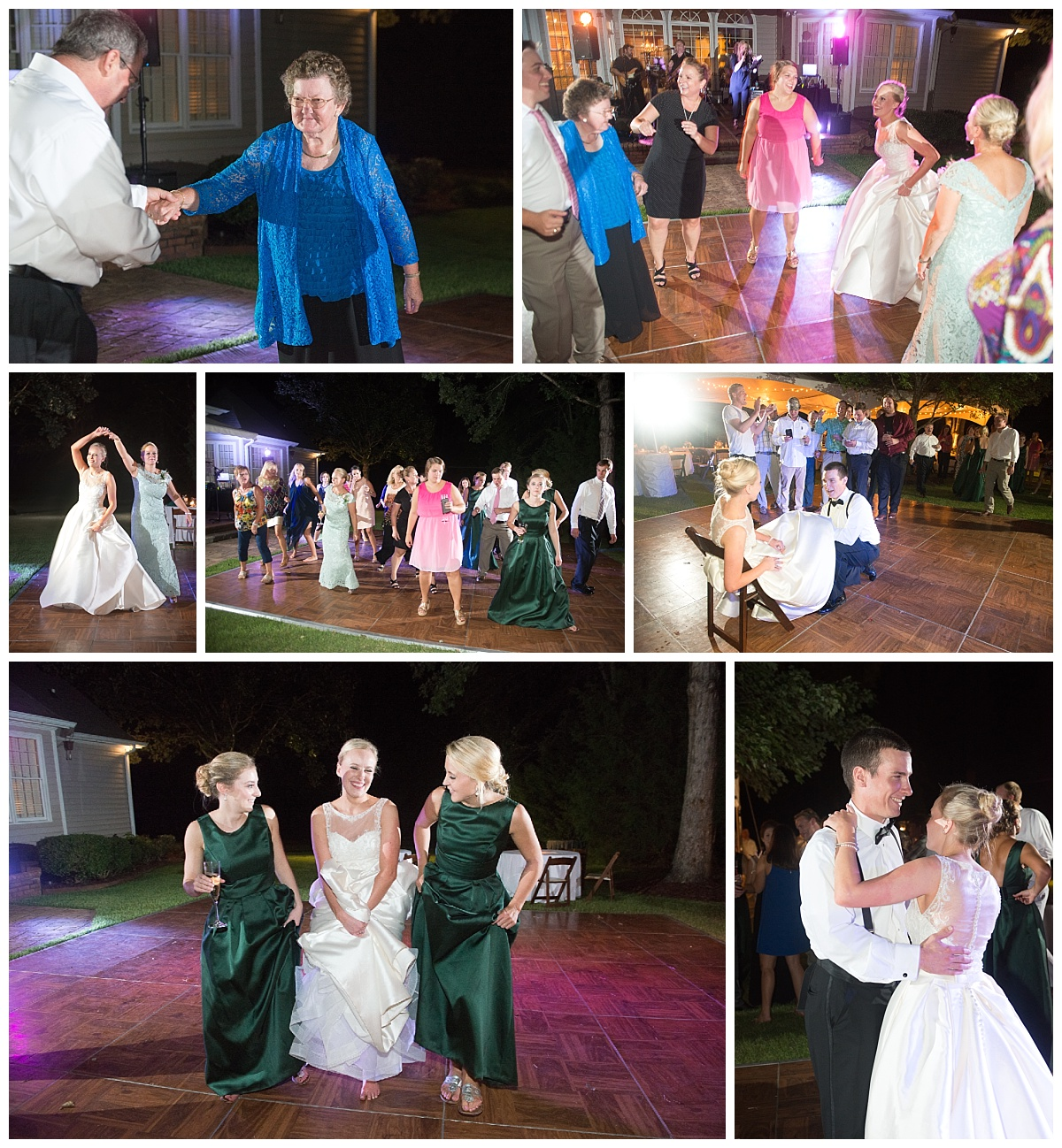Dancing at the outdoor wedding reception
