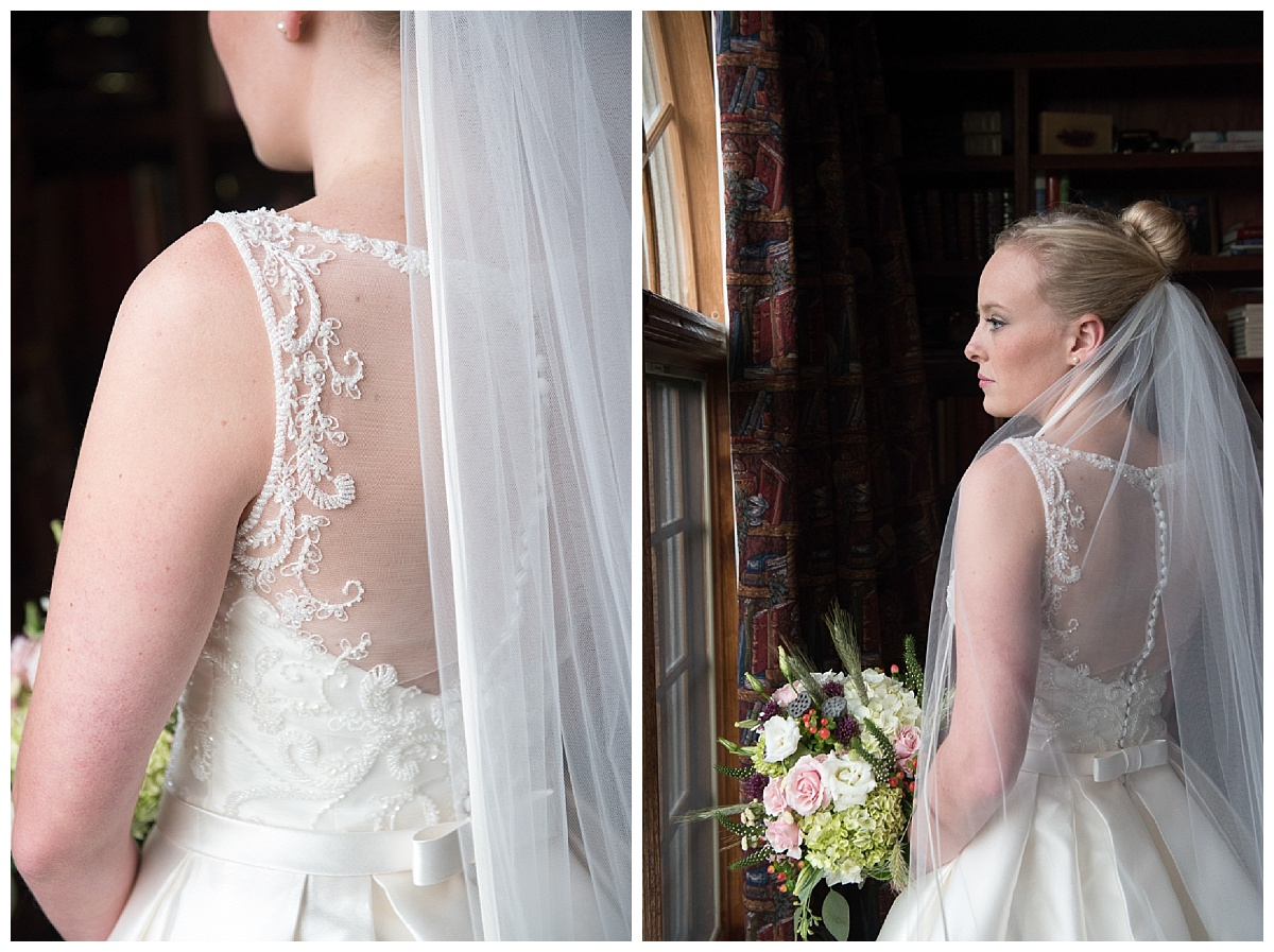 Bridal gown lacy detail