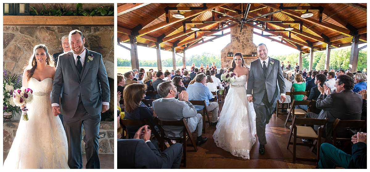 Outdoor ceremony at the Farm at Ridgeway