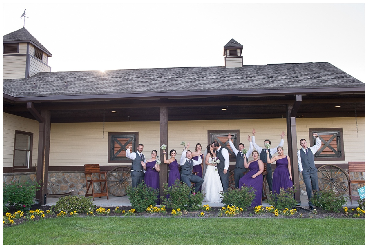 Bridal party at Farm at Ridgeway