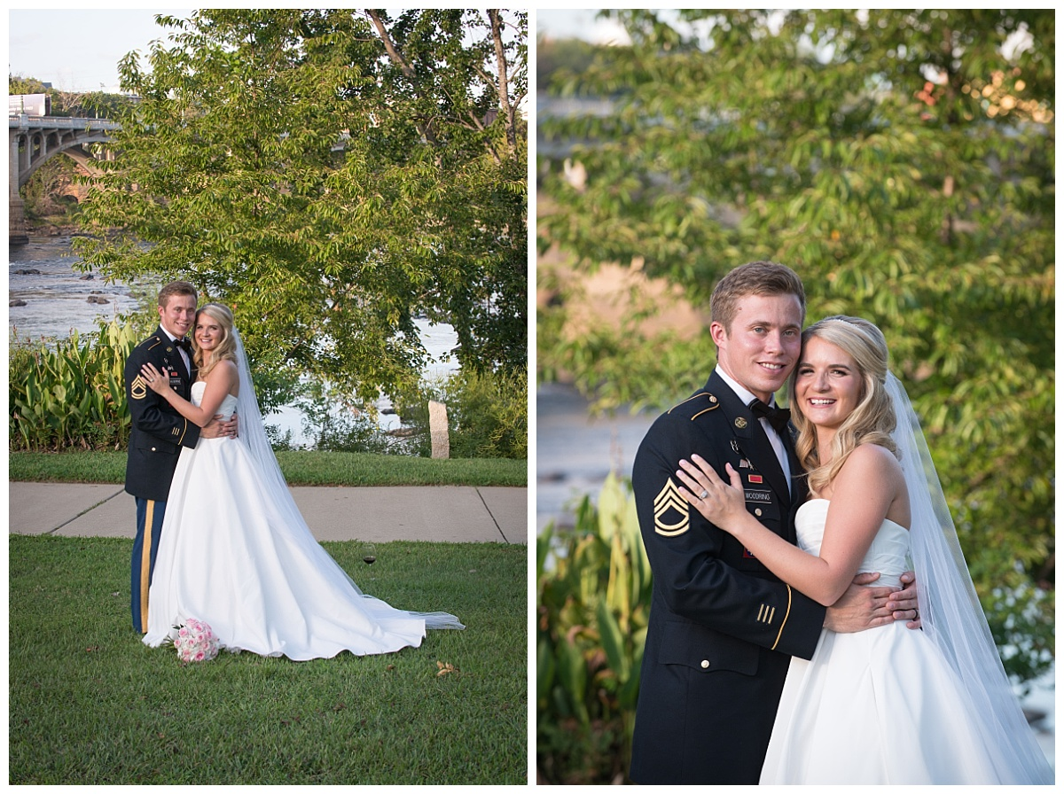 Riverfront outdoor wedding in Columbia