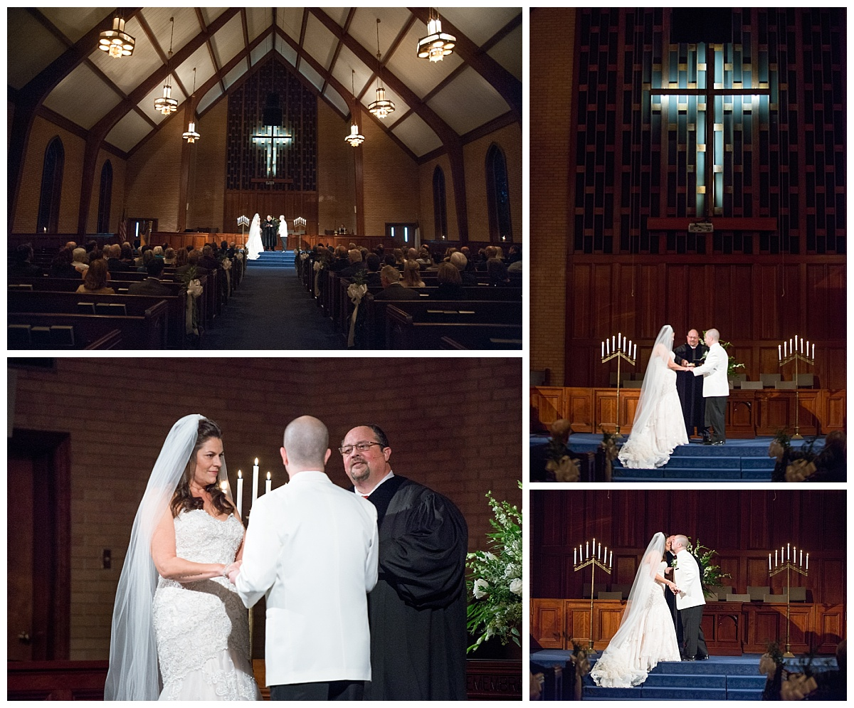 Wedding Ceremony at Rosewood Baptist church