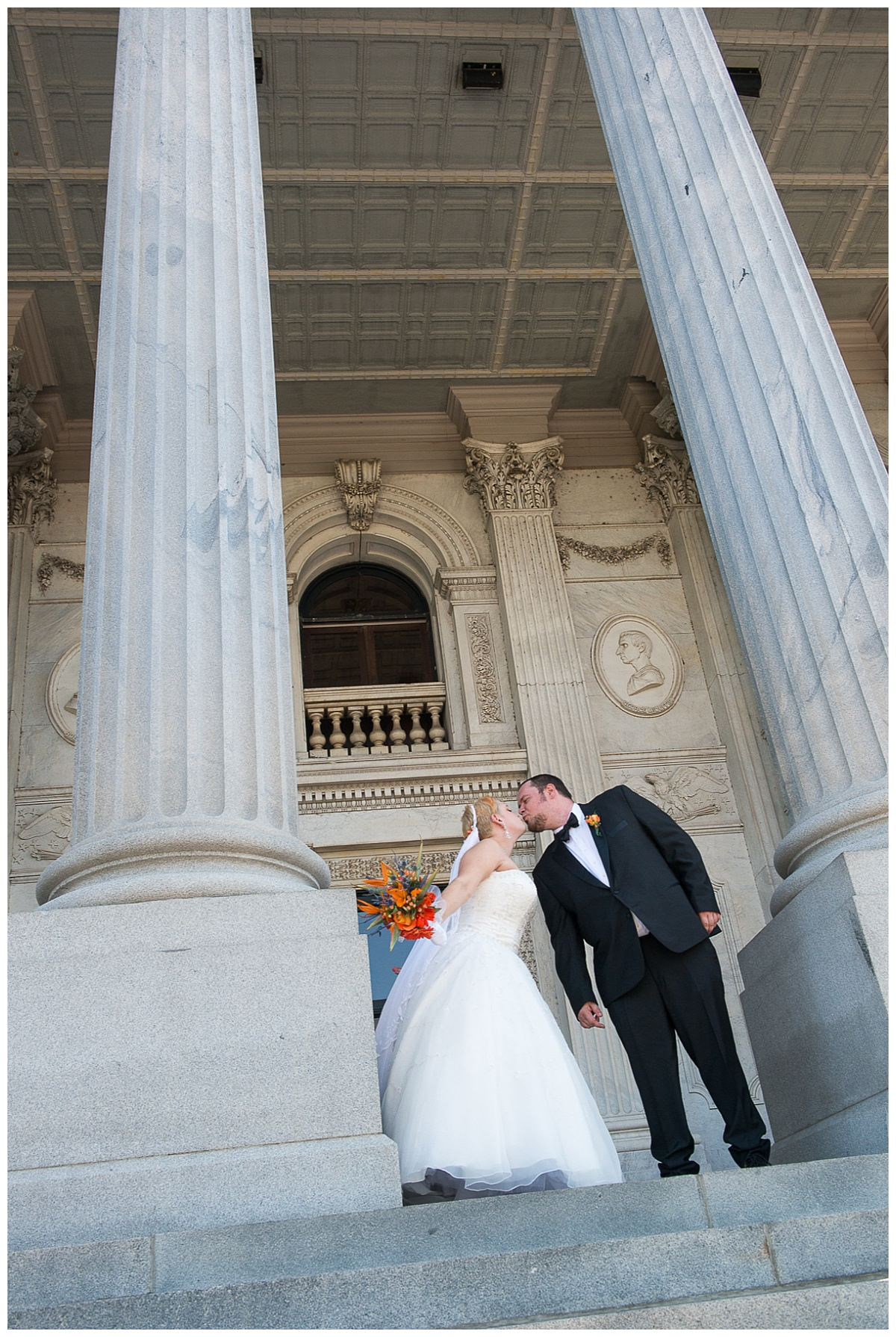 Bride and groom at the State House