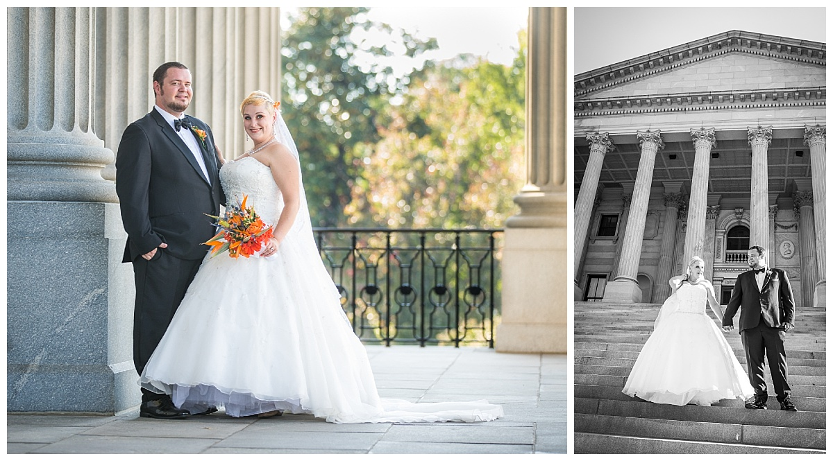 Bride and groom at SC State House