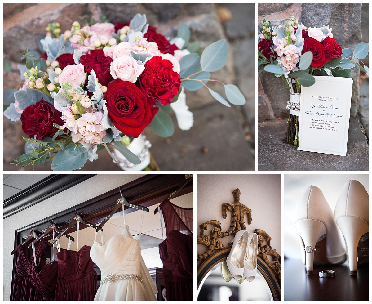 Fall wedding flowers and shoes
