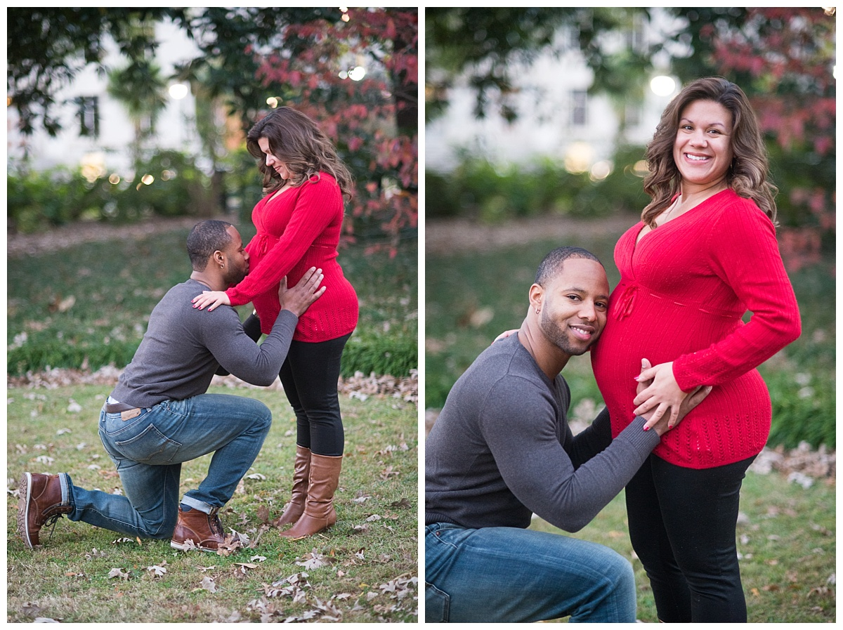 couples maternity portrait at the state house