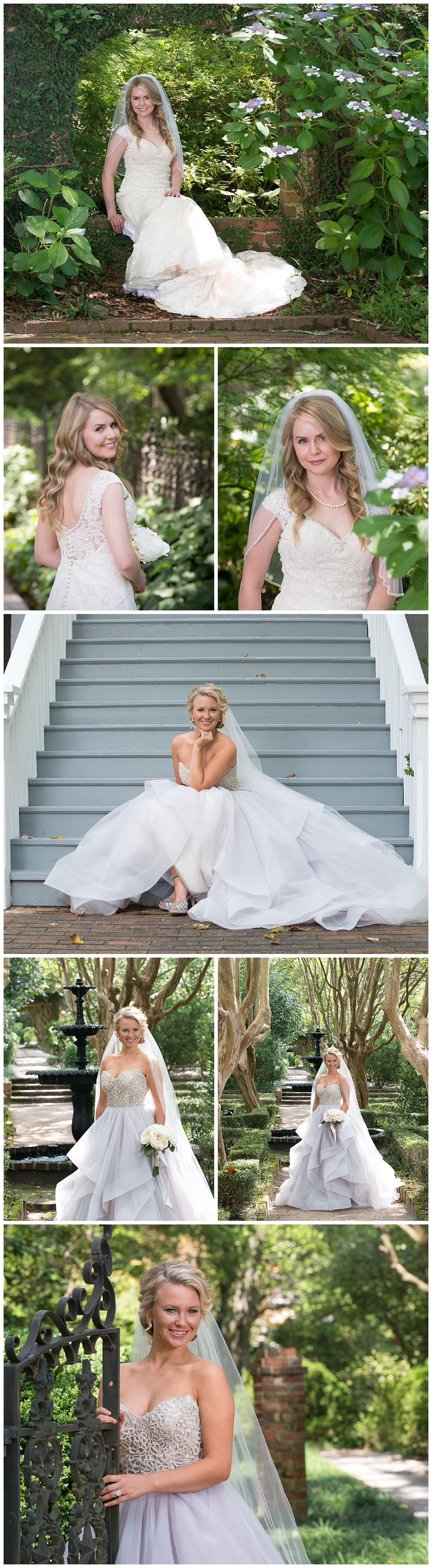 Governor's mansion and Lace House bridal portrait