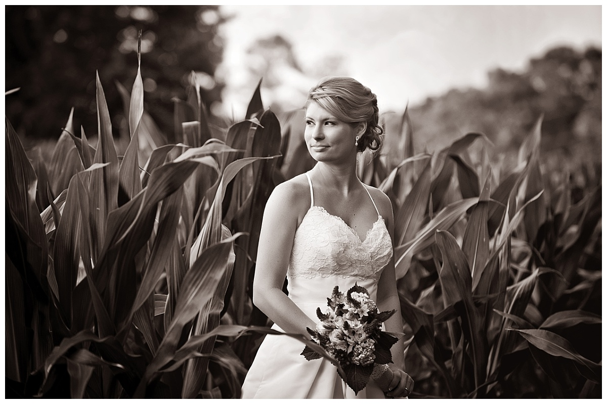 Farm bridal portrait