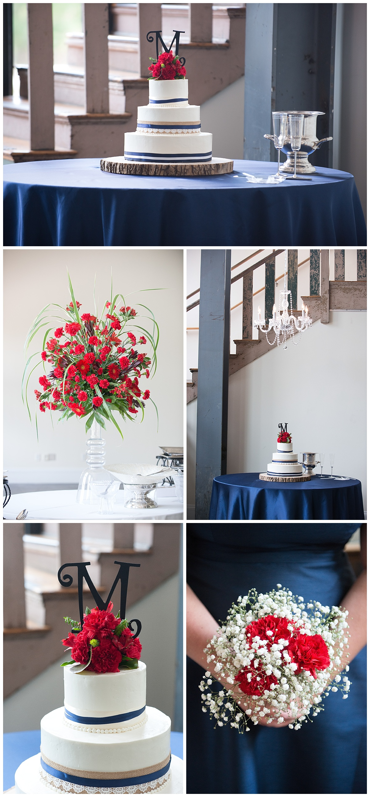 701 whaley cakes and blue and red color scheme