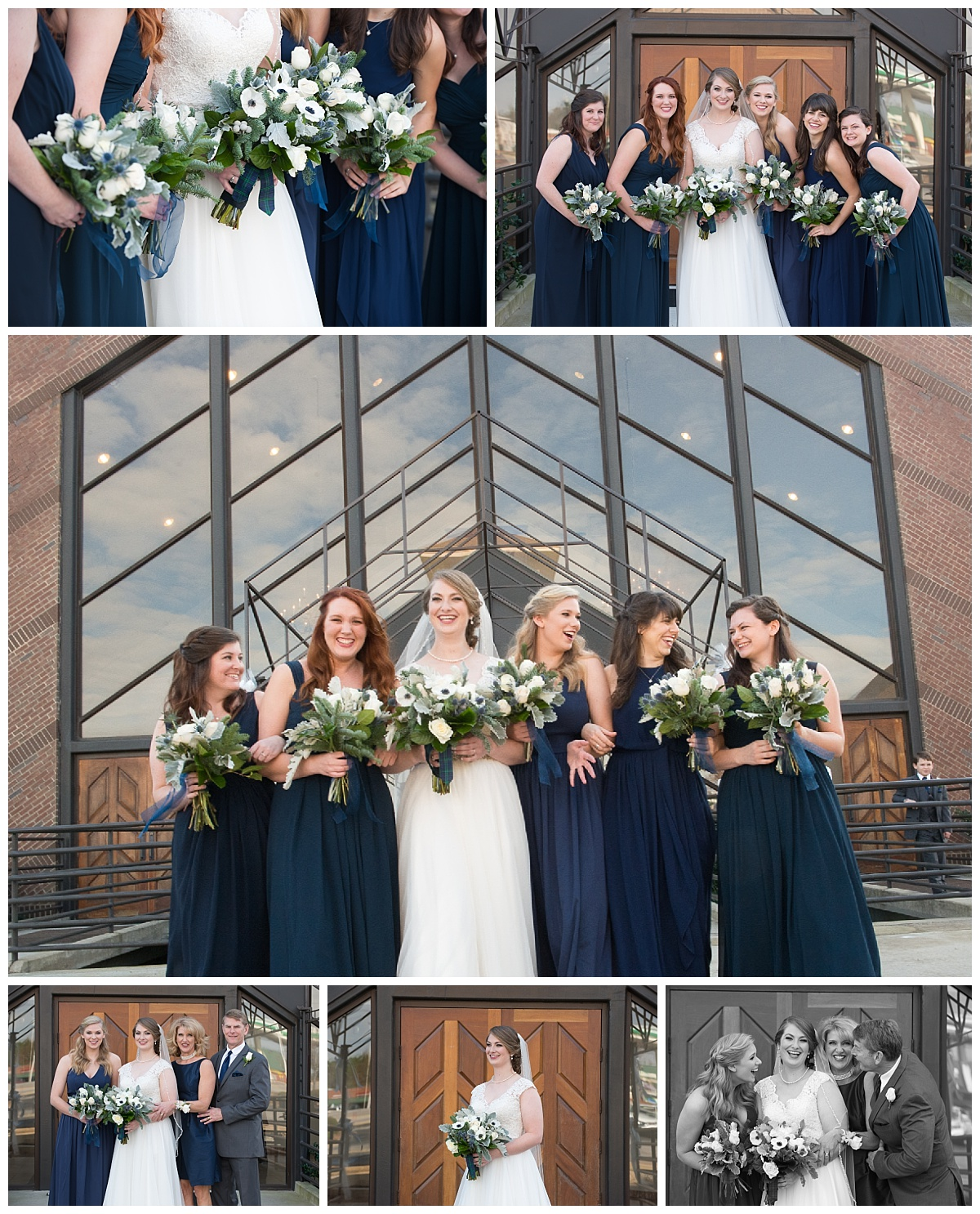 Blue bridesmaids gowns