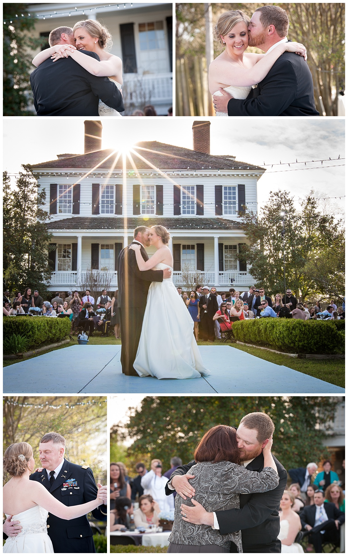 Sunset reception and first dances at Kershaw Cornwallis house