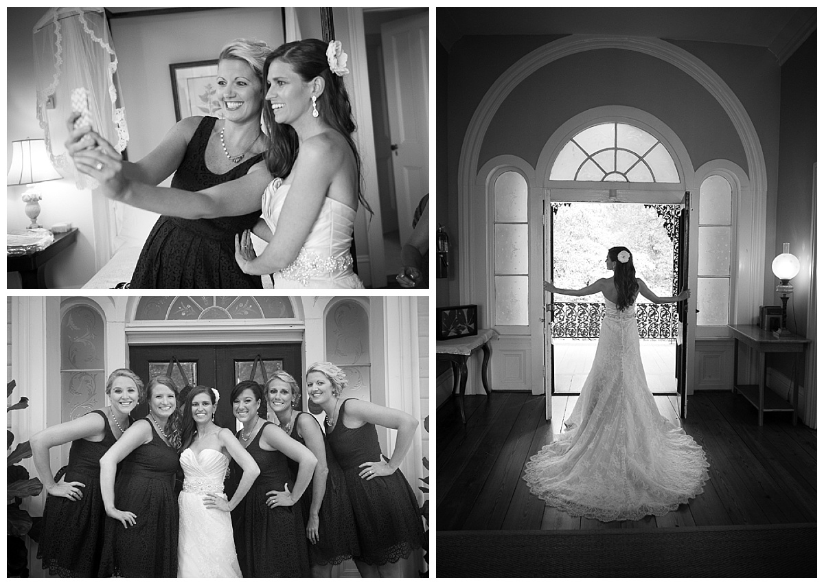 Bride photos at the Lace House