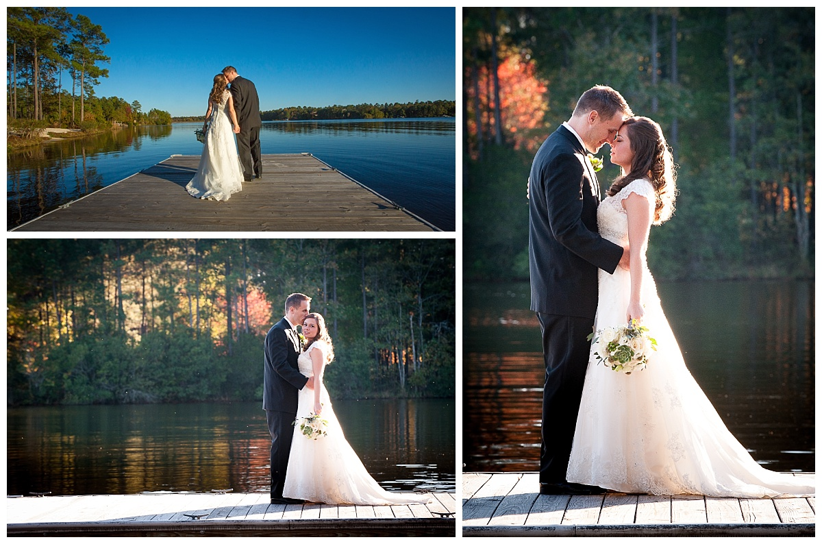 Lake wedding portraits
