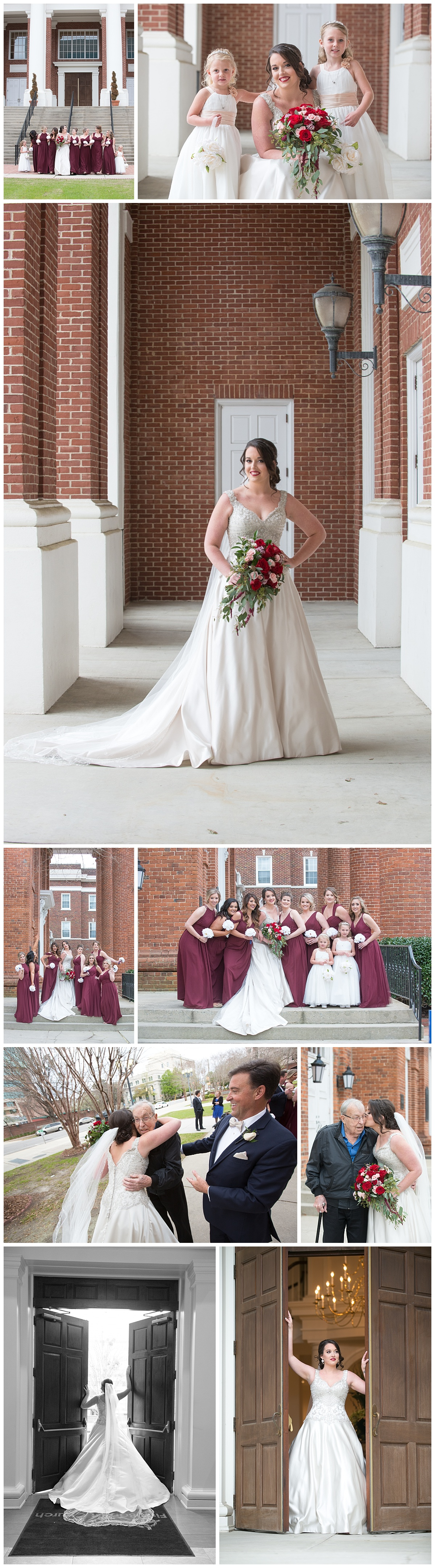 Bridesmaids at First Baptist