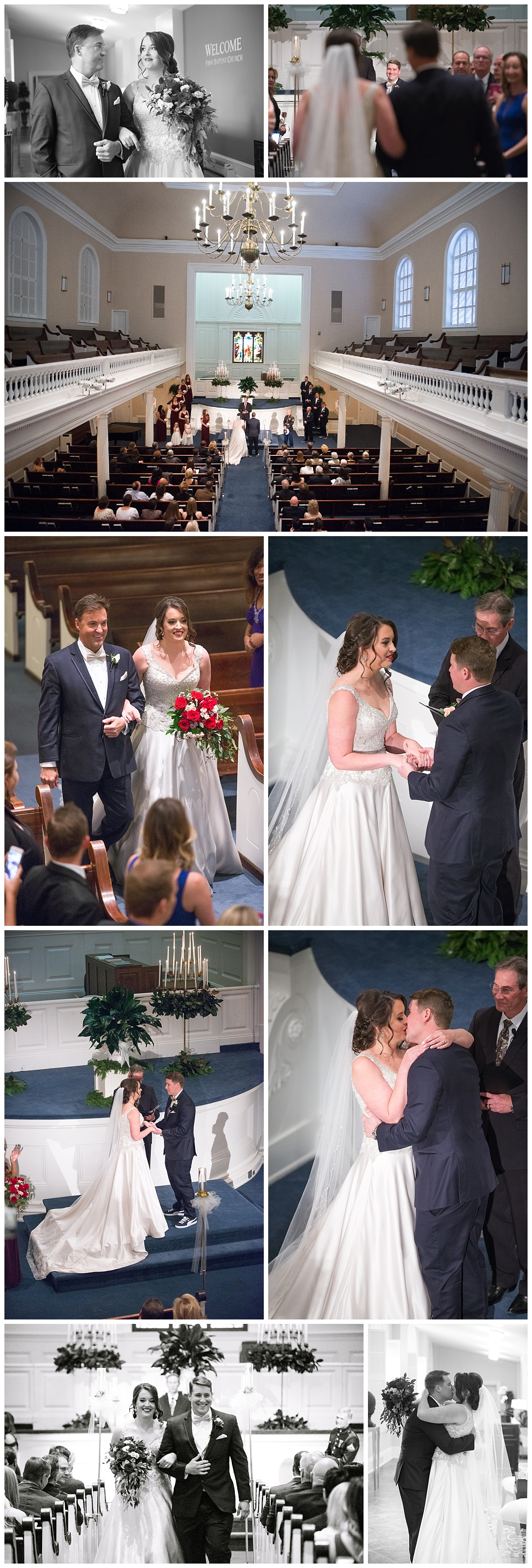 Ceremony at Boyce Chapel of First Baptist of Columbia