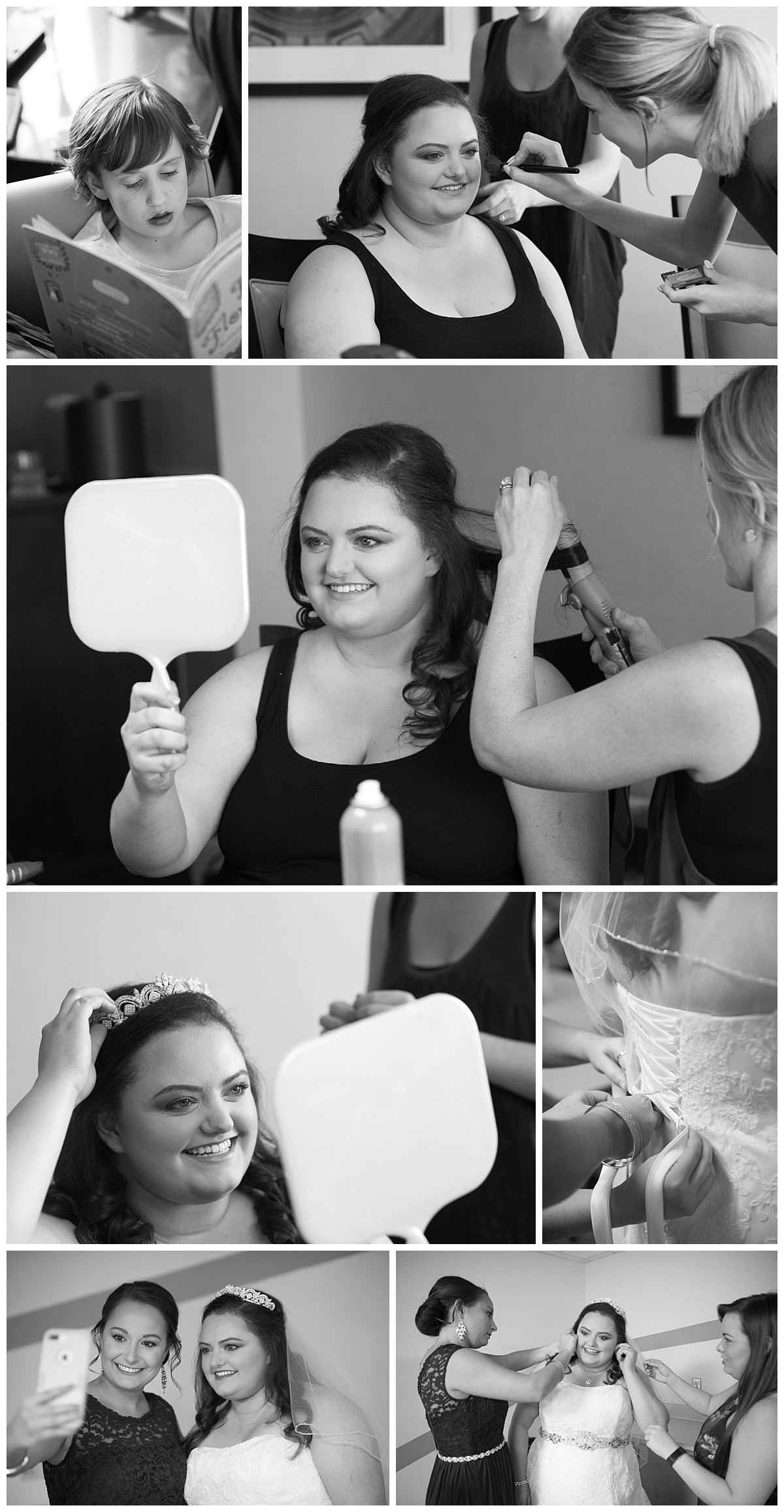 Getting ready black and white photos