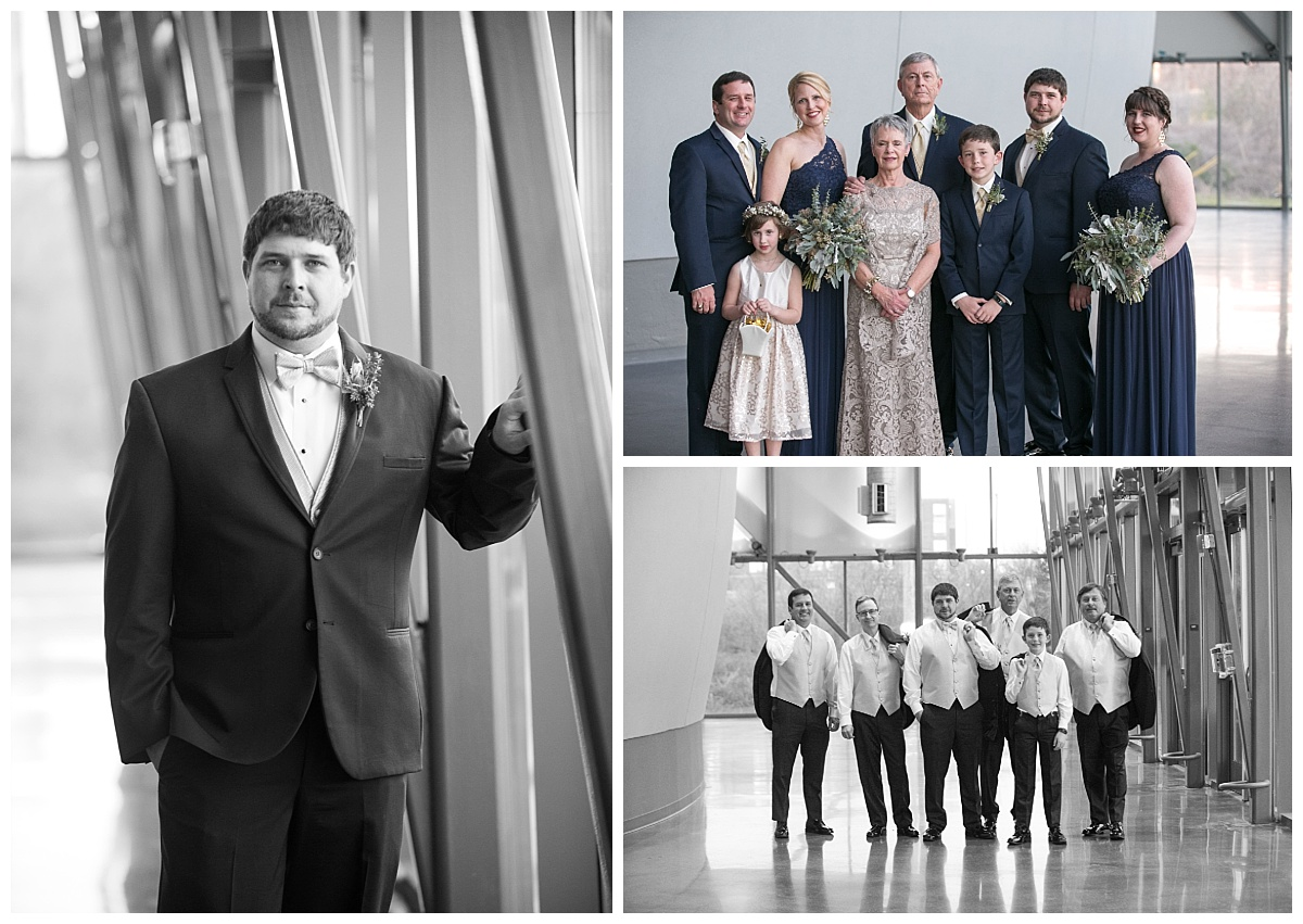 Groomsmen at the state museum