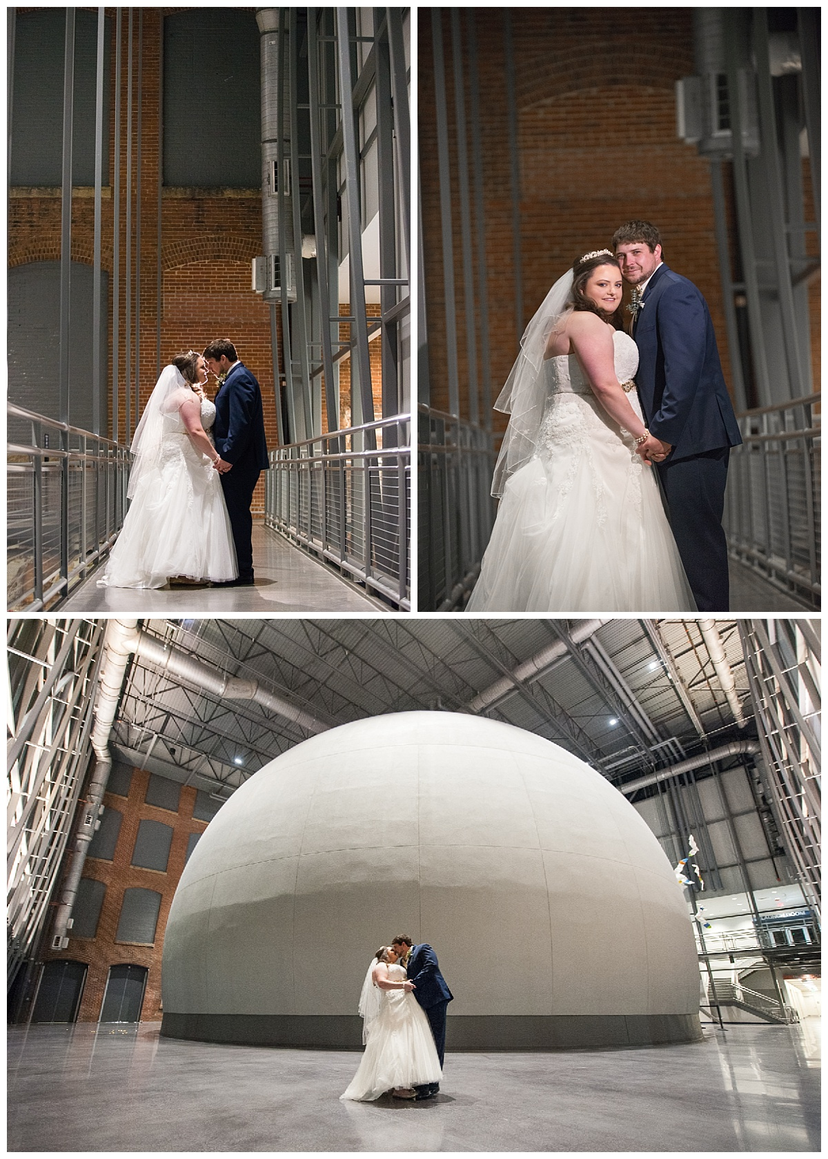 Planetarium at the SC state museum wedding portraits