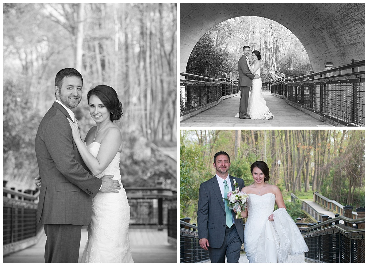 Riverwalk park wedding portraits