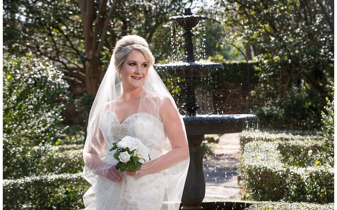 Abbie's Bridal Portrait- Governor's Mansion Grounds