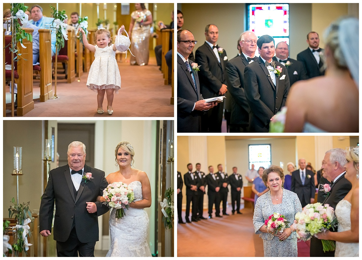Bride at Park Street Baptist church