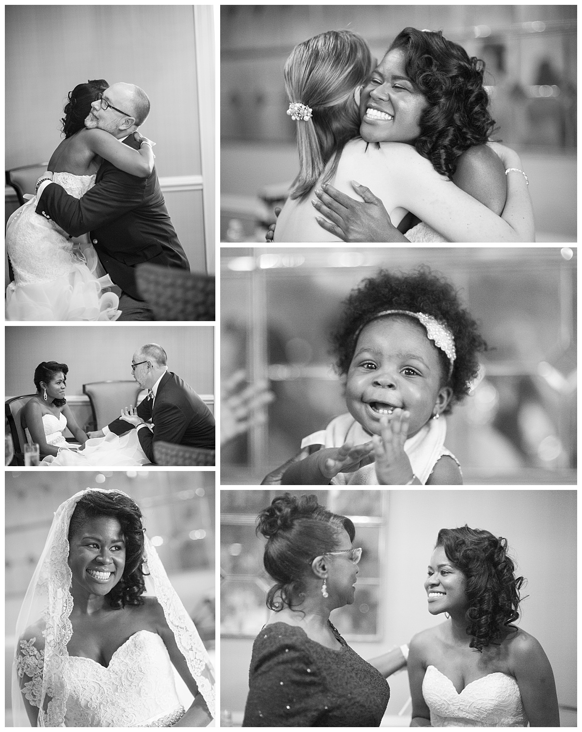 black and white wedding candid images