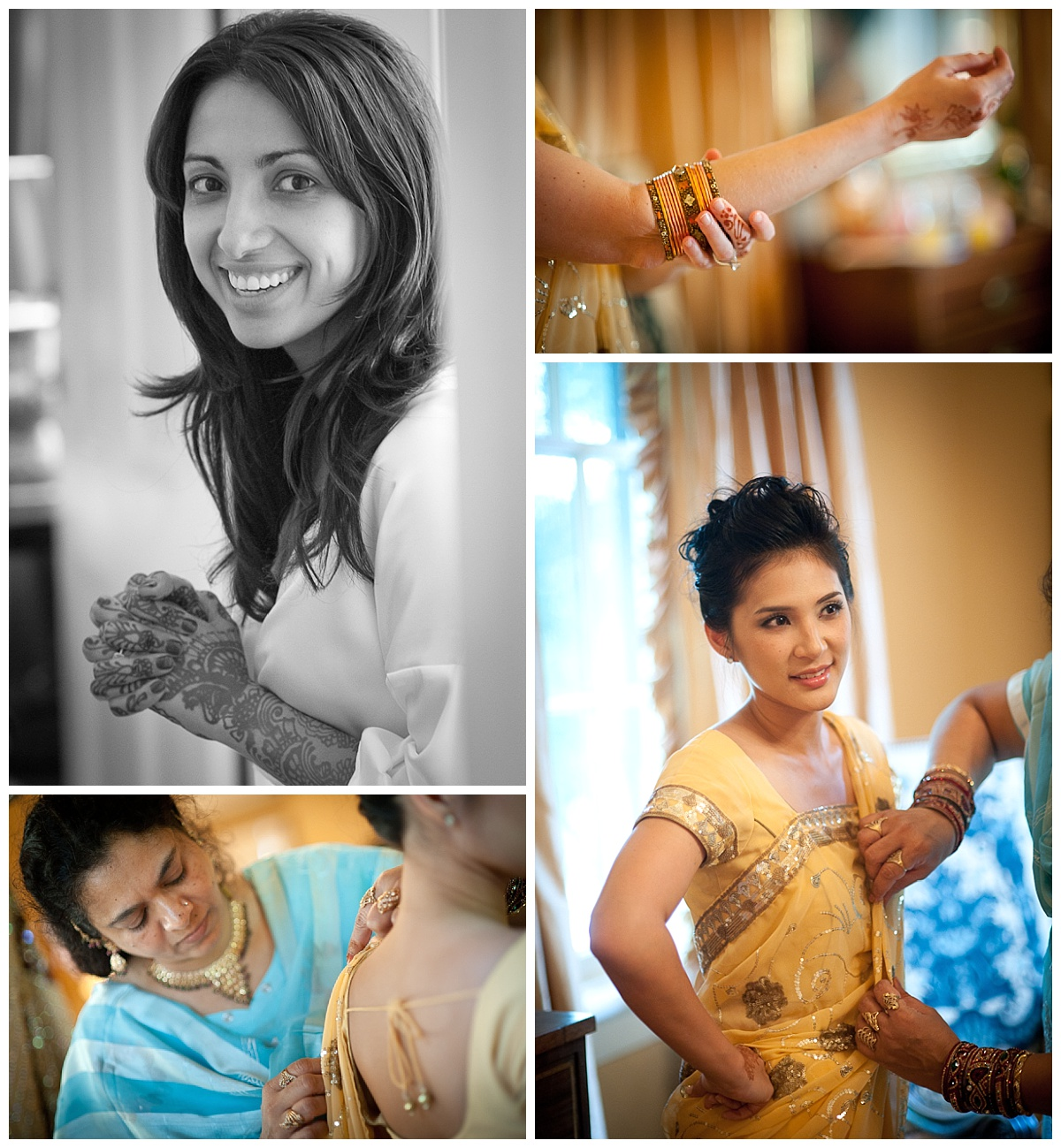 Indian wedding getting ready