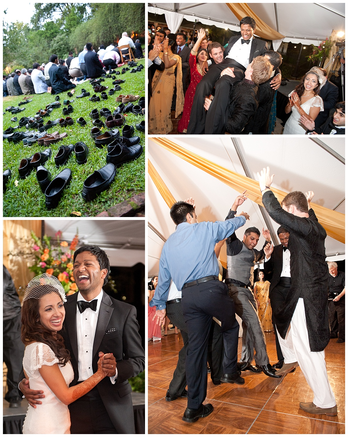 Tented reception dancing