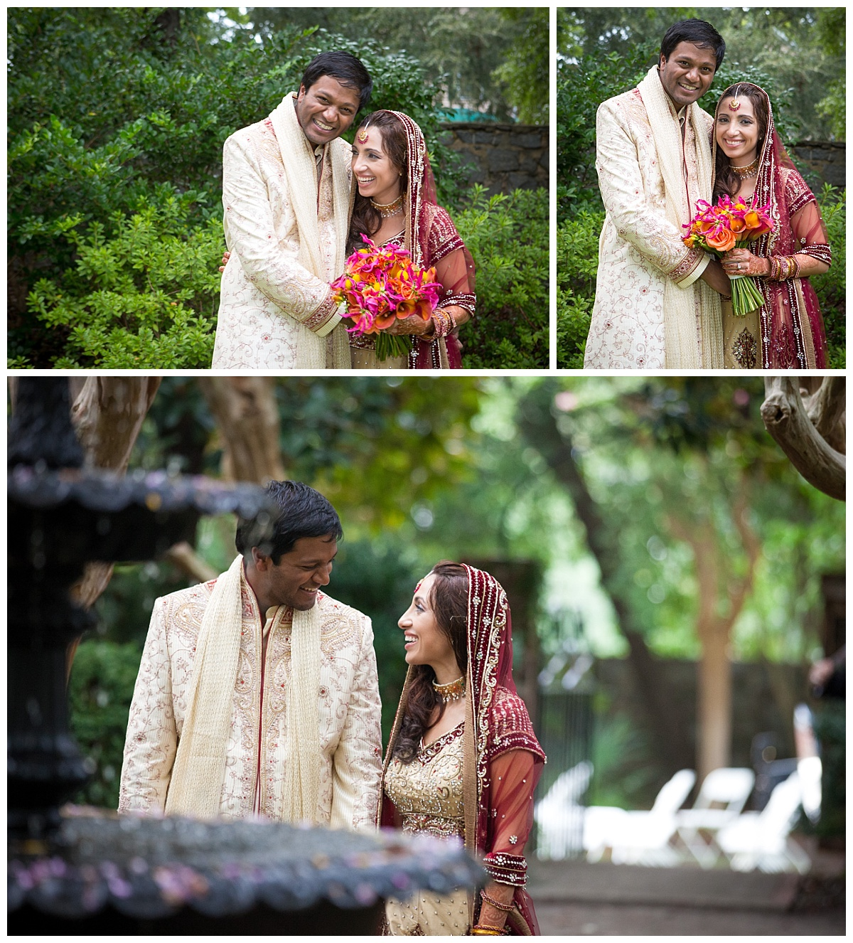 Indian couple at lace house gardens