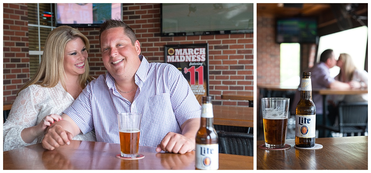 Sports bar engagement session
