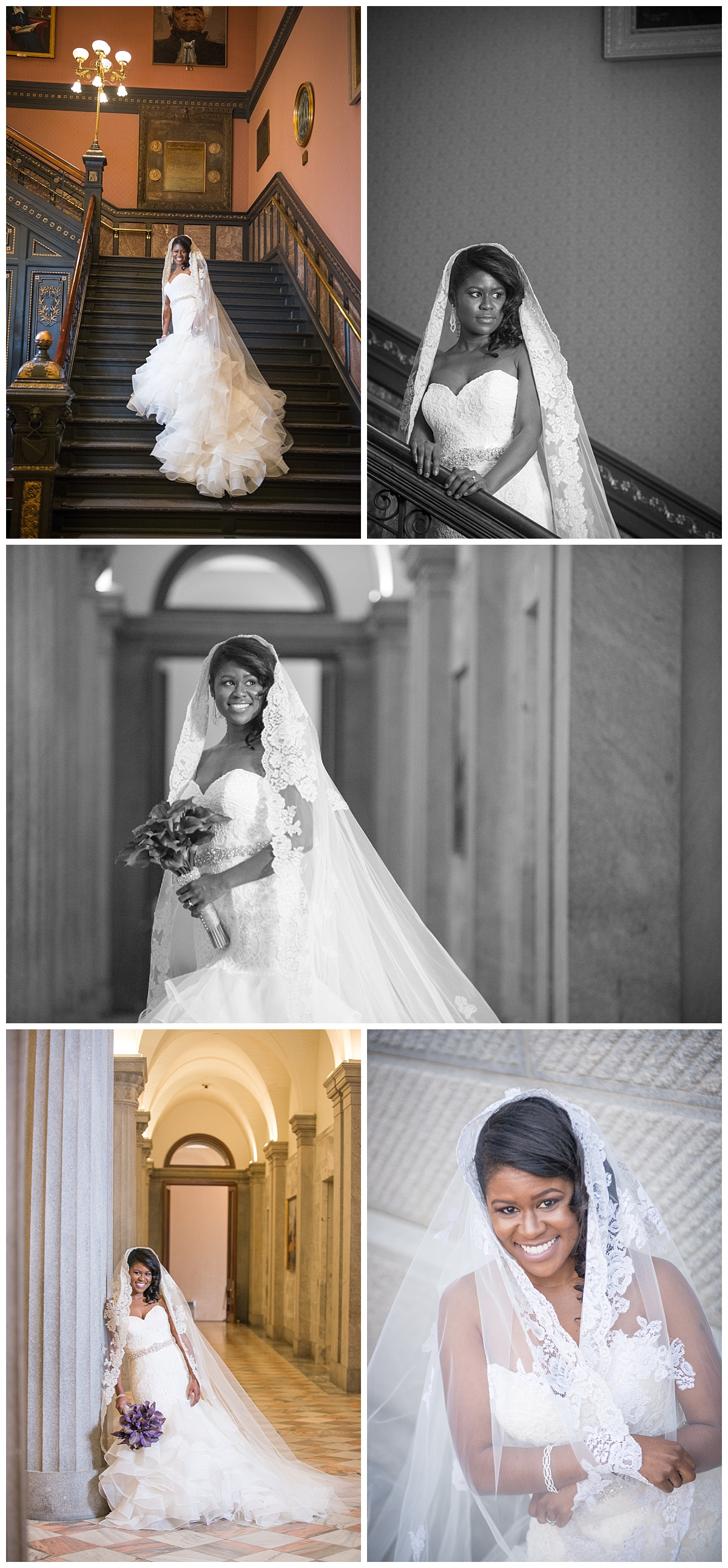 Bridal portrait at SC State House