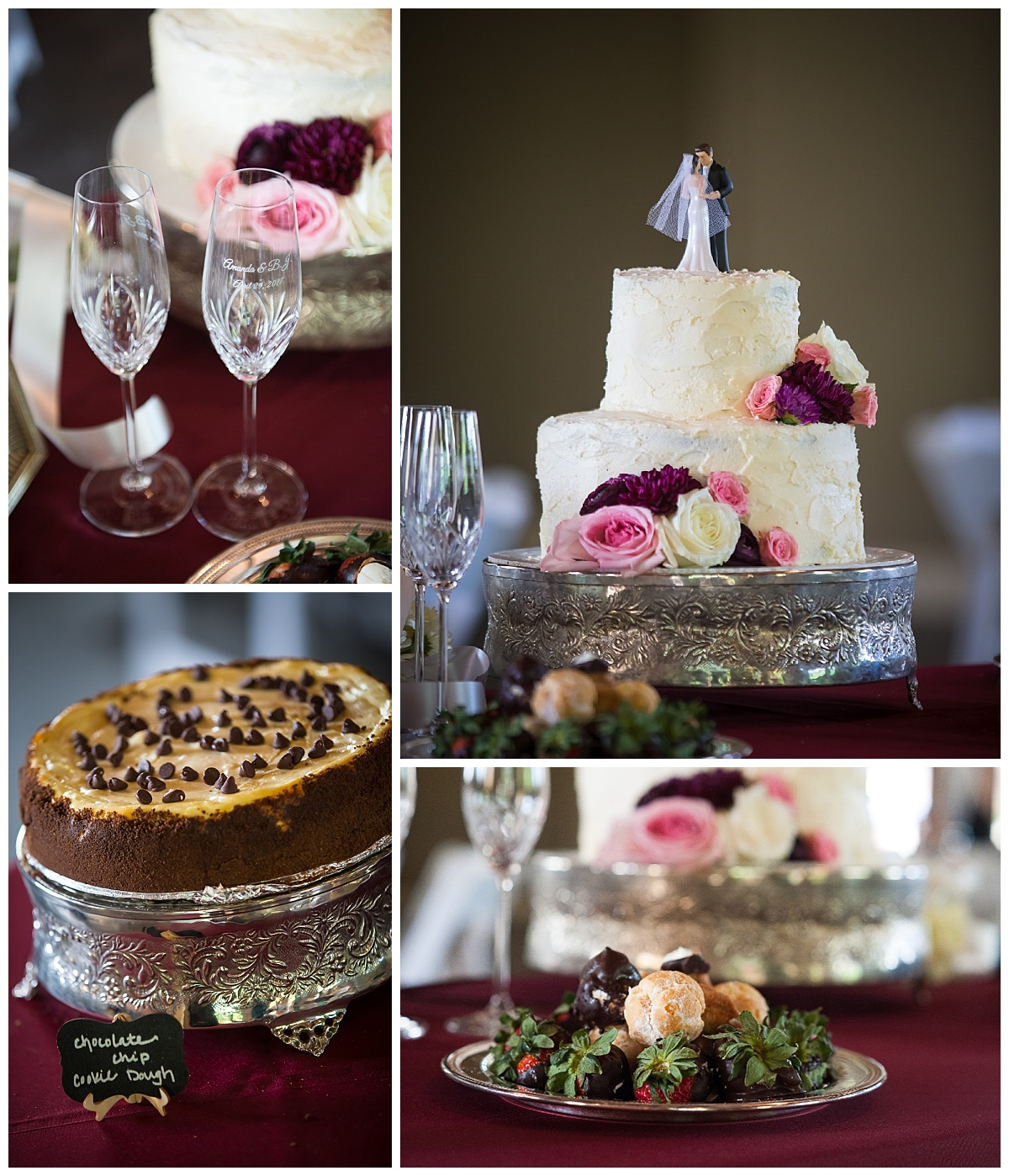 Wedding cake and cheesecake desert bar