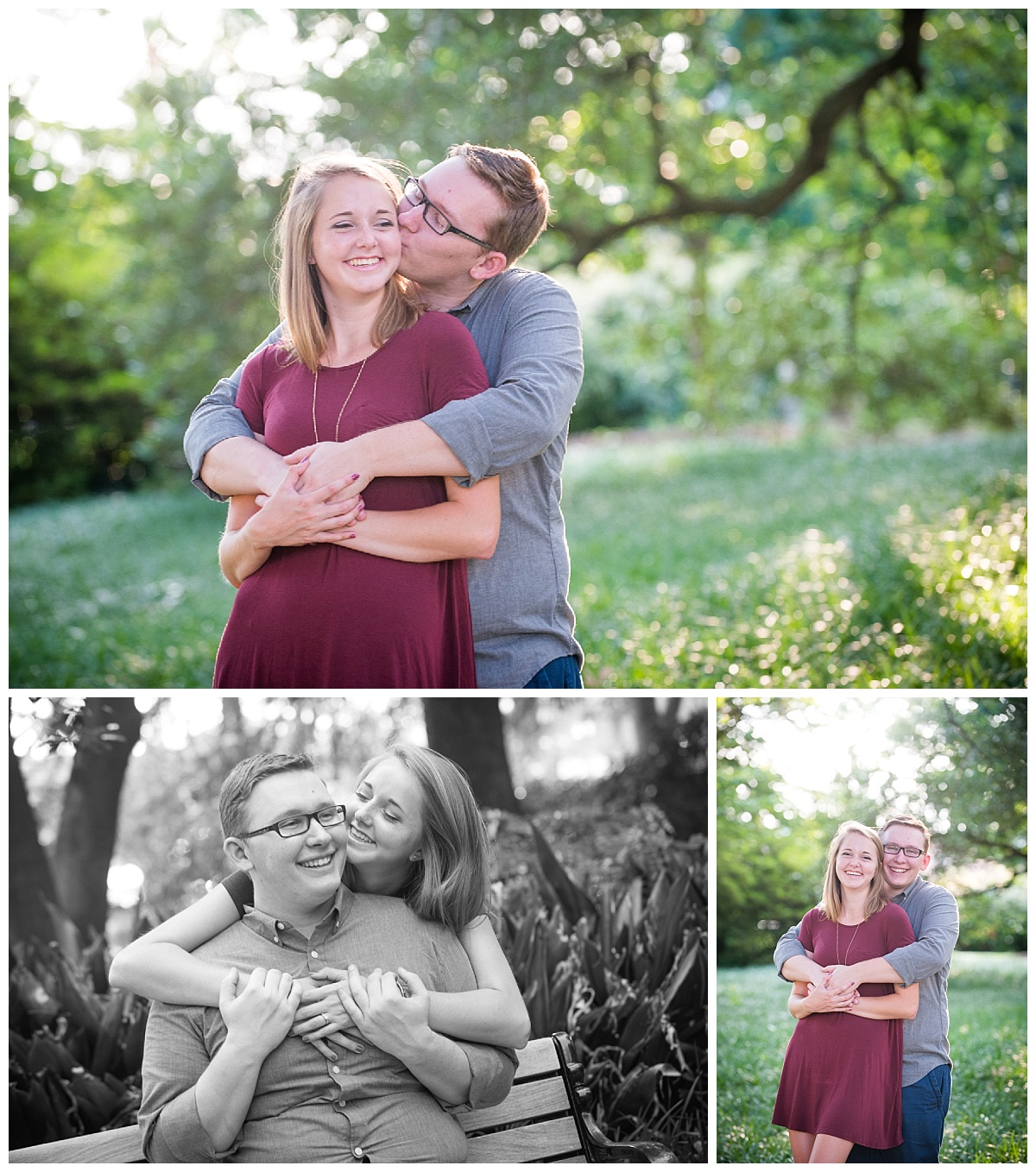 Romantic downtown columbia engagement session
