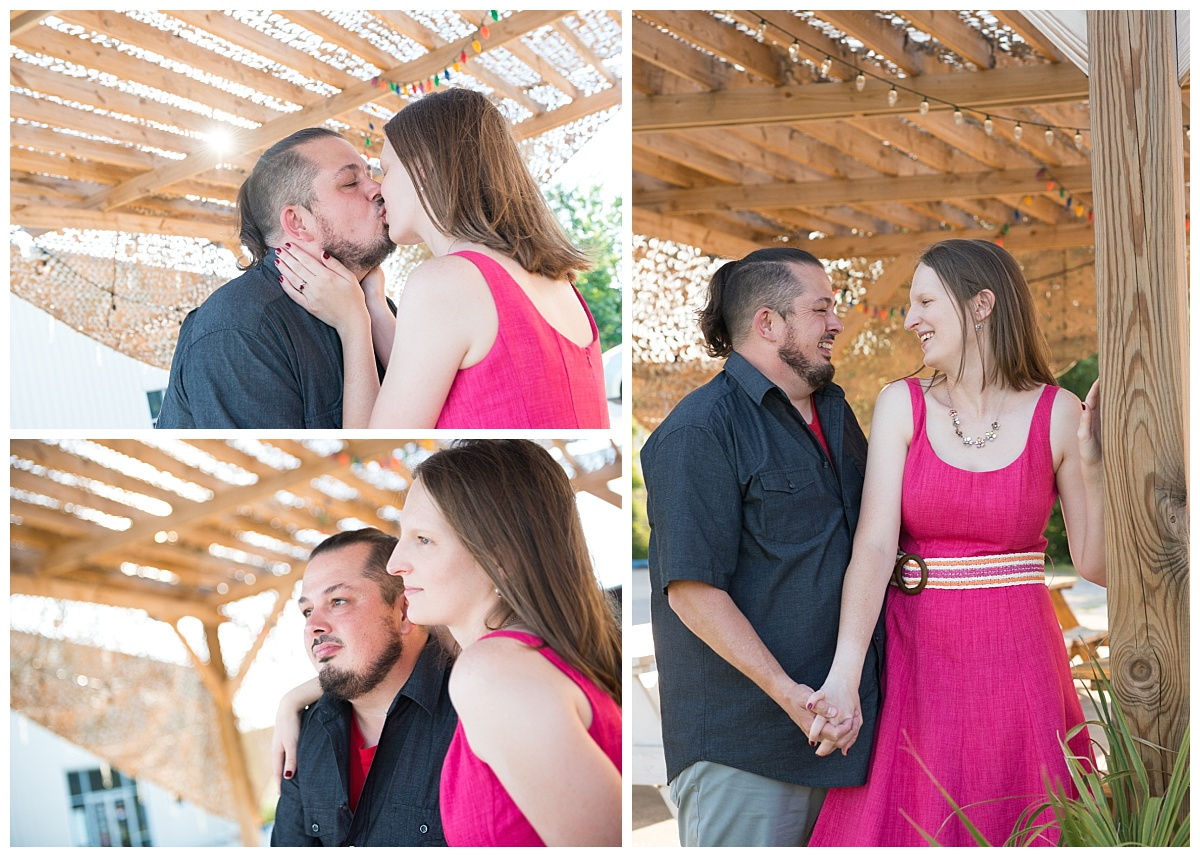 brewery engagement session at swamp cabbage