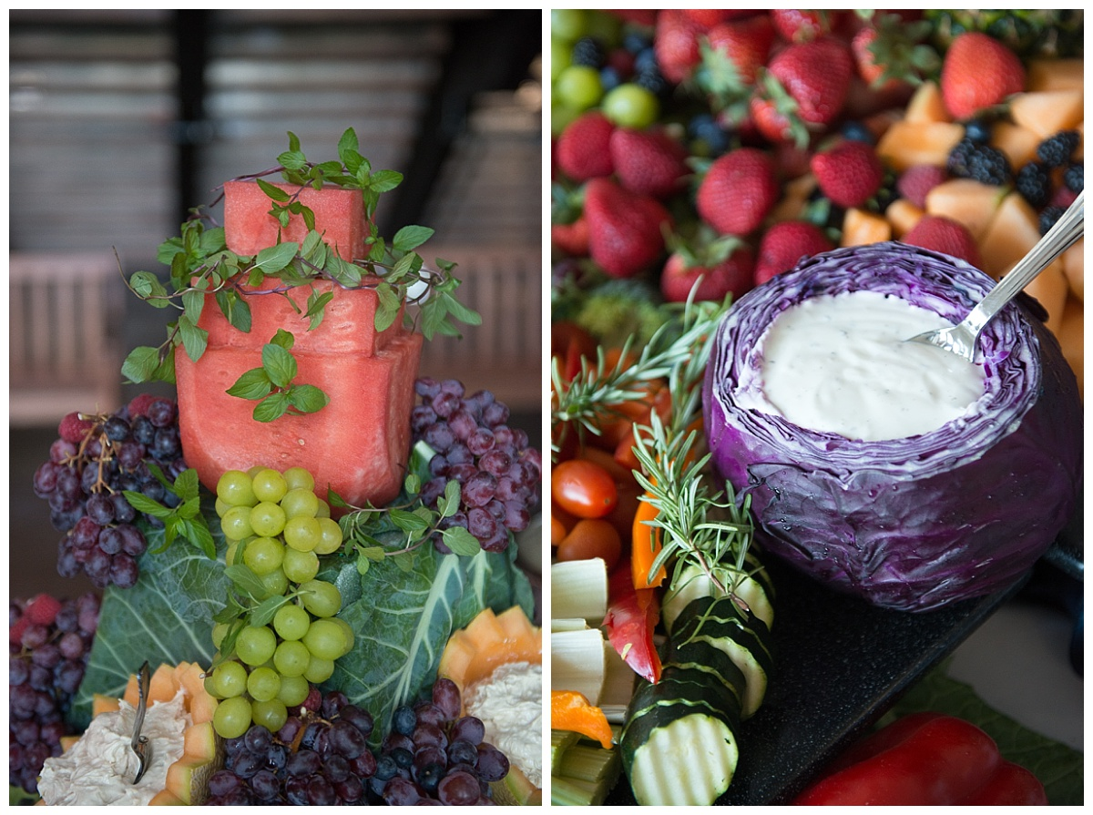 Fruit catering for wedding