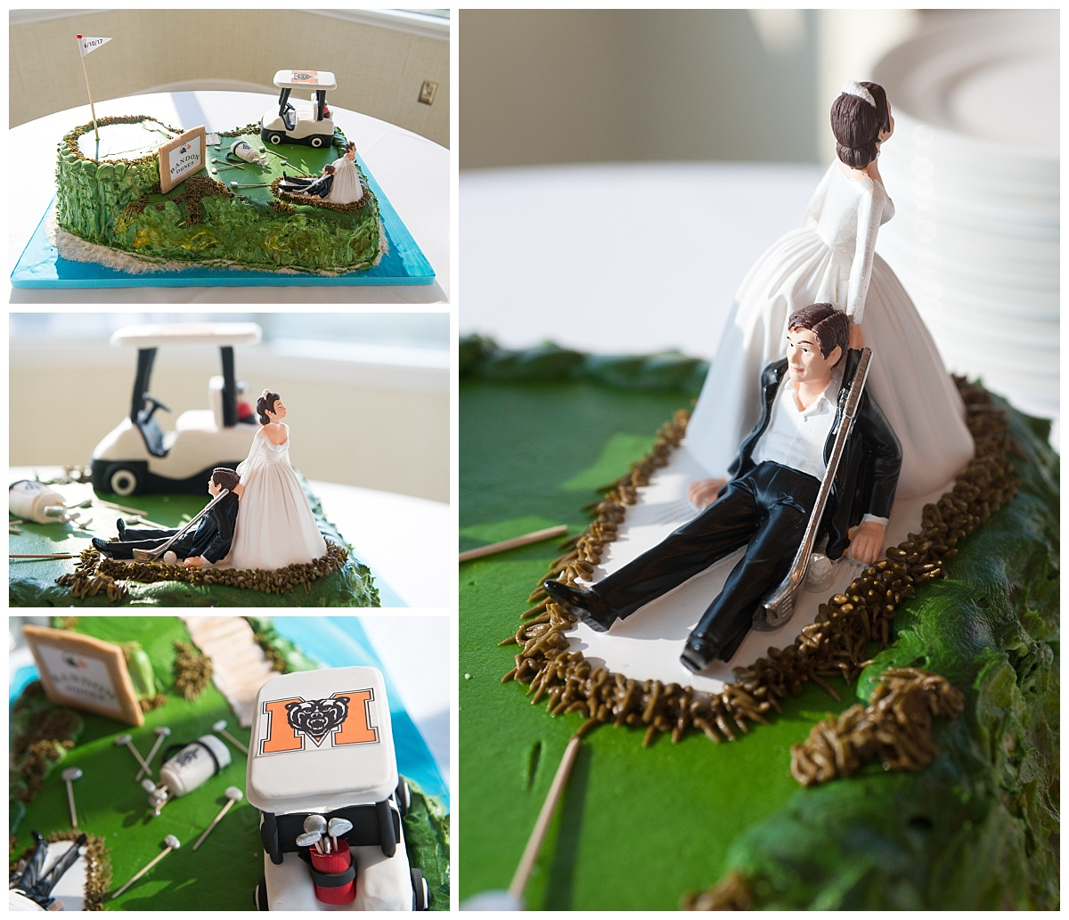Custom grooms cake of golfer by Bonnie Brunt cakes