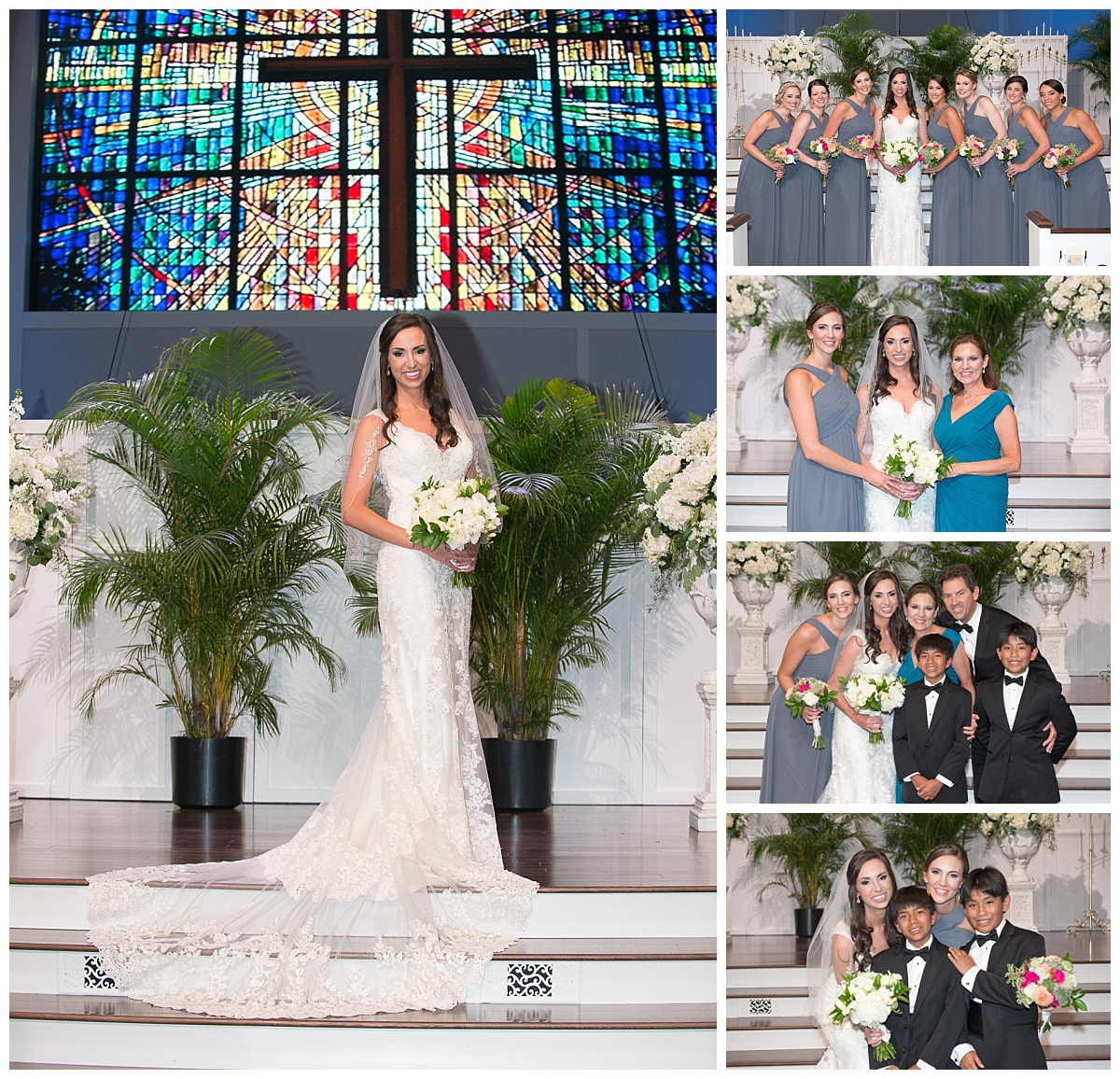 Bride portraits in church