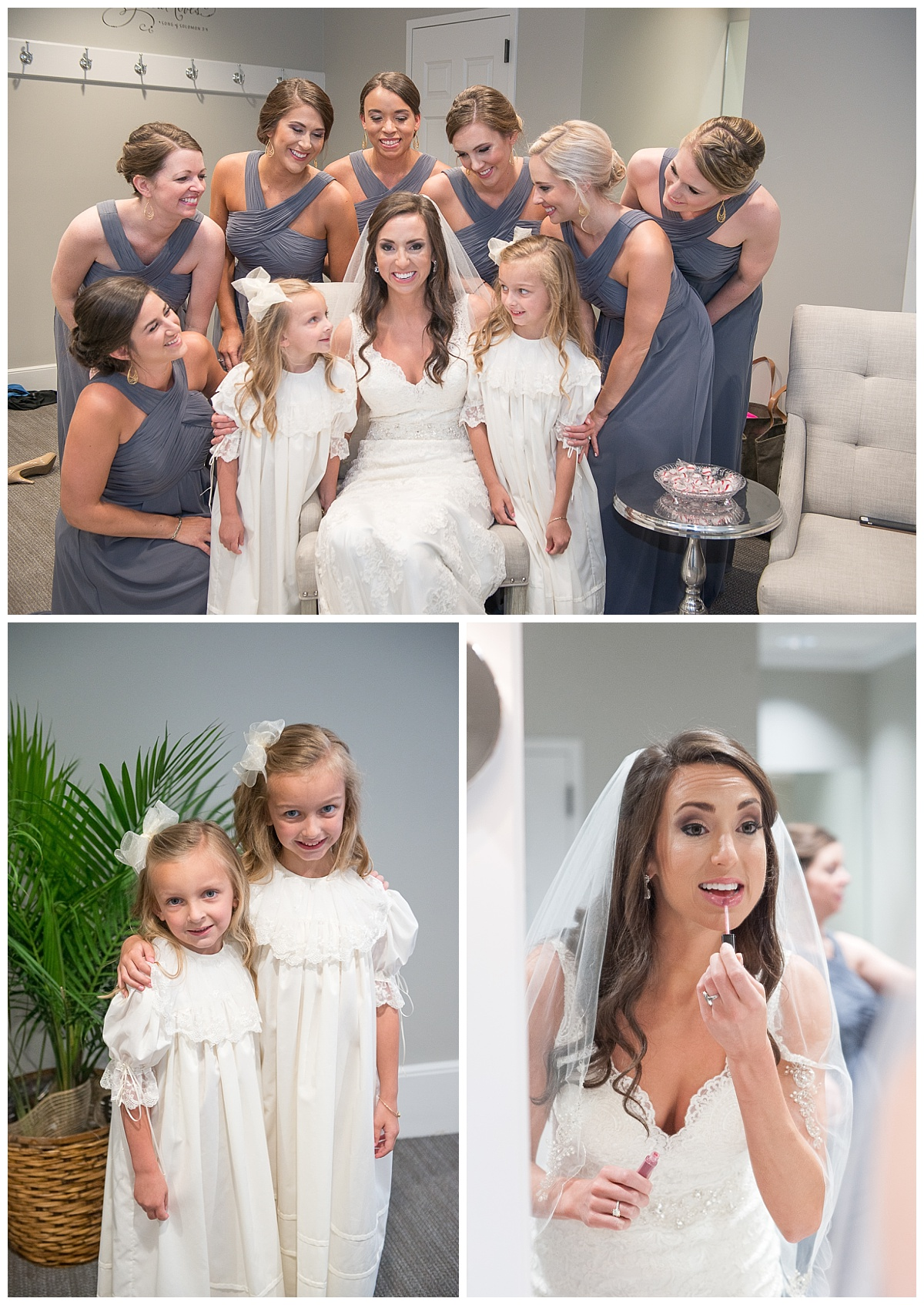Dressing room flowergirls photos